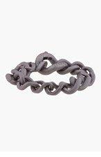 MAISON MARTIN MARGIELA Gunmetal Curb Chain Bracelet for men