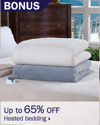Up to 65% off heated bedding.