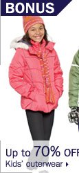 Up to 70% off kids' outerwear.