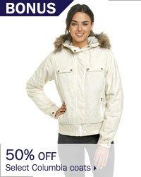 50% off select Columbia coats.