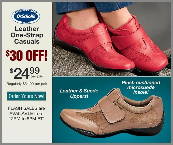 $30 OFF One-Strap Casuals