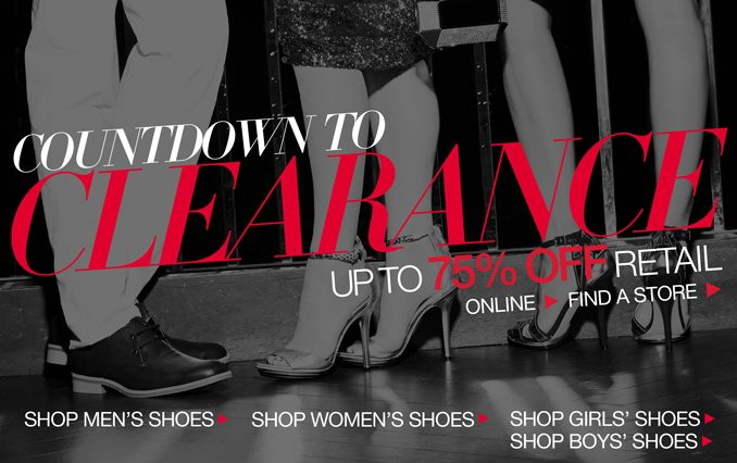Shop Clearance Shoes 75% Off