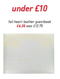 foil heart leather guestbook