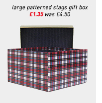 large patterned stags gift box