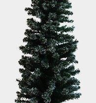 4ft green christmas tree with snow tip