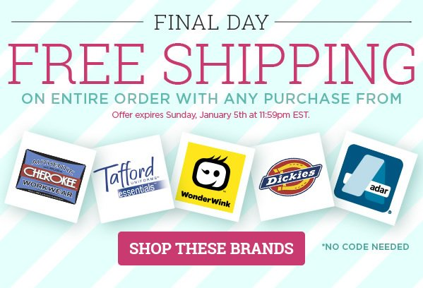 Free Shipping on entire order with selected brands - Shop Now