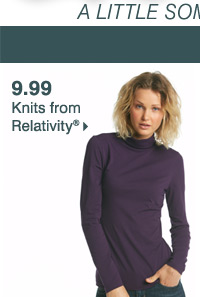 9.99 knits from Relativity®.