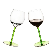 Rocking Wine Glass 2-pack, Green