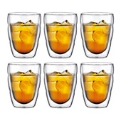 Pilatus Double Walled Glass Set of 6, 25 cl