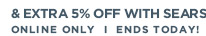 & extra 5% off with Sears card over $499 | Online only | Ends today!