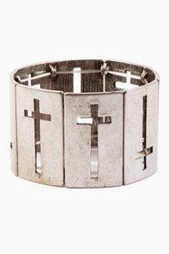 Cross Cutout Bracelet 12