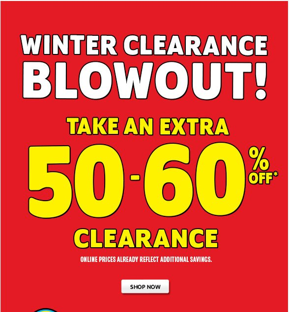 Extra 50-60% off Clearance!