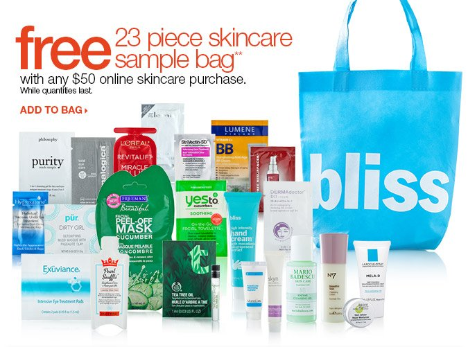 Free Beauty Bag with $50 Online Order > Shop Now