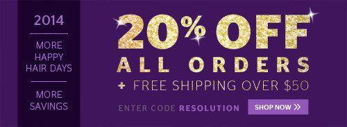 New Year's Resolution: 20% Off All Orders