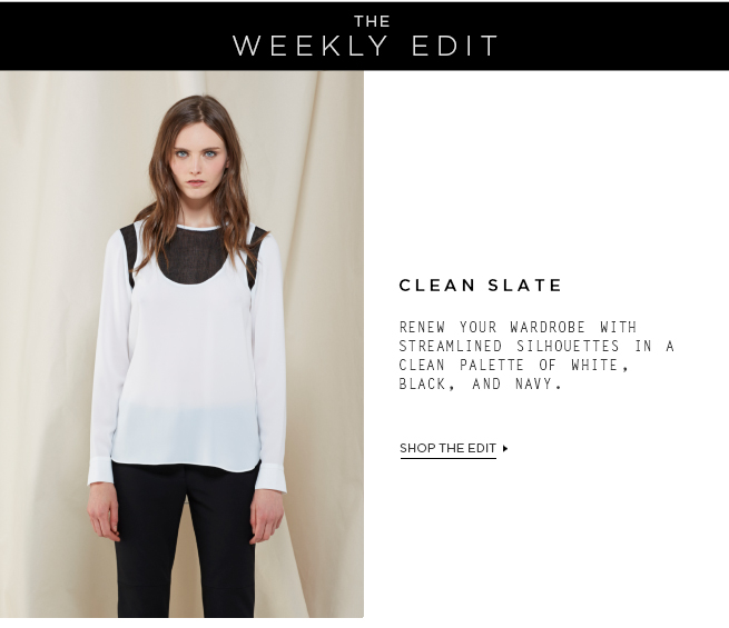 The Weekly Edit: Clean Slate