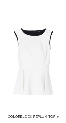 Anson Colorblock Peplum Top