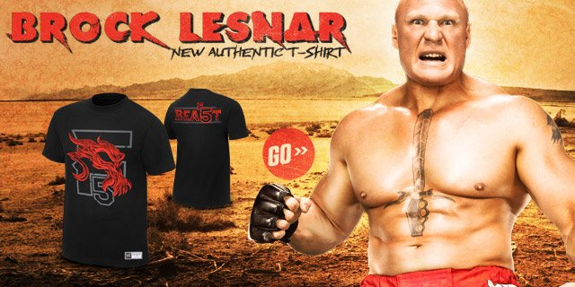 "Brock Lesnar ""F5 Beast"" Authentic T"