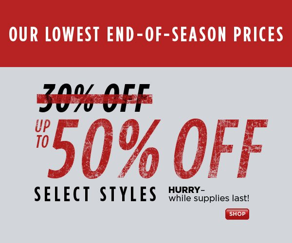 SHOP Up to 50% Off Sale