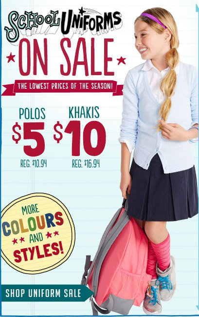 SCHOOL UNIFORMS ON SALE | SHOP UNIFORM SALE