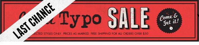 Shop the Typo sale!