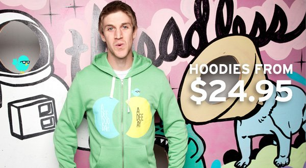 Hoodies from $24.95.