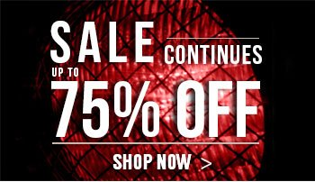 Sale continues up to 75% off