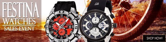Save up to 52% during the Festina Watches sales event