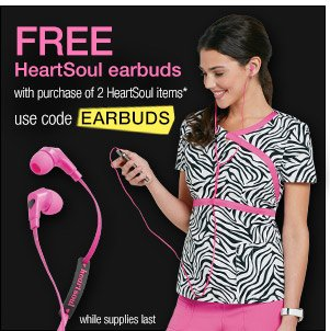 Free HearSoul earbuds with purchase!