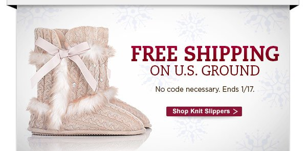 Free Shipping on U.S. Ground.  No code necessary.  Ends 1/17