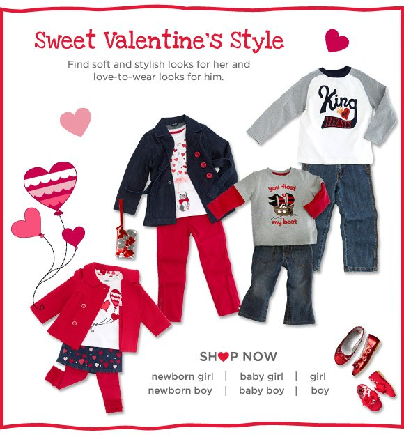 Sweet valentine's Style. Find soft and stylish looks for her and love-to-wear looks for him. Shop Now.