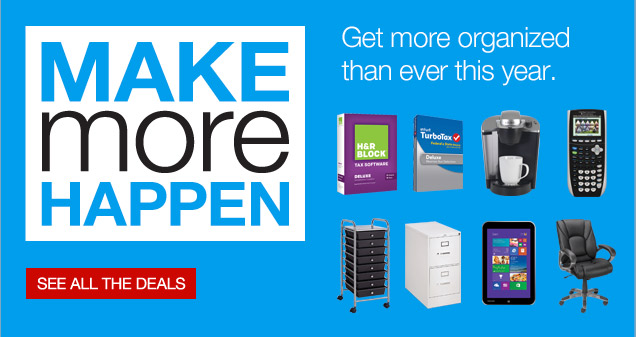 Make more happen. Get more  organized than ever this year. See all the deals.