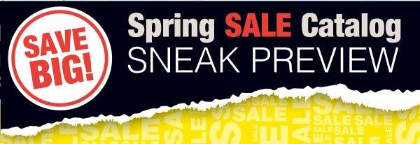 Spring Sale Catalog Sneak Preview