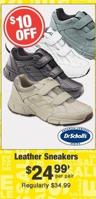 Leather Sneakers $24.99 per pair