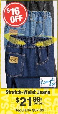Stretch-Waist Jeans $21.99 per pair