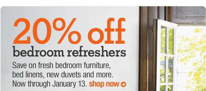 20% off bedroom refreshers
