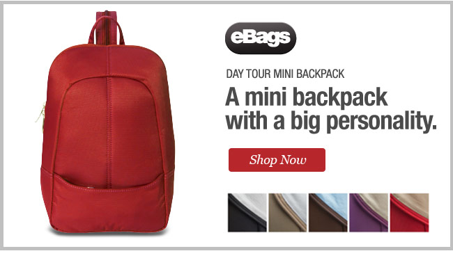 Day Tour Mini Backpack from eBags. A mini backpack with a big personality. Shop Now.