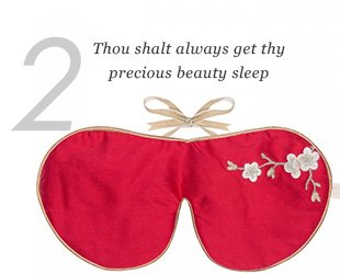 2. Thou wilt always get thy precious beauty sleep.