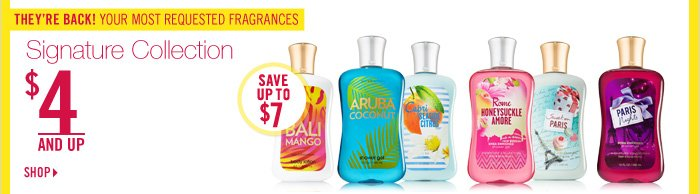 Signature Collection Body Care – $4