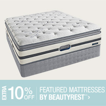 Extra 10% off Featured Mattresses by Beautyrest**