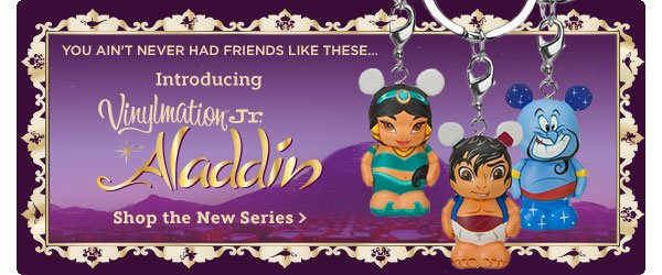 You ain't never had friends like these...Introducting Vinylmation Jr. Aladdin | Shop the series