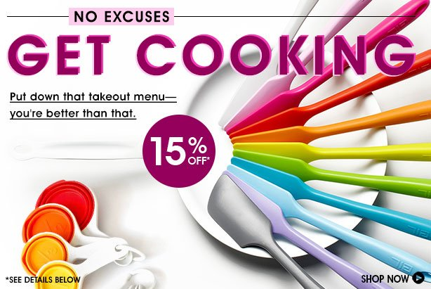 Get Cooking 15% Off No Excuses
