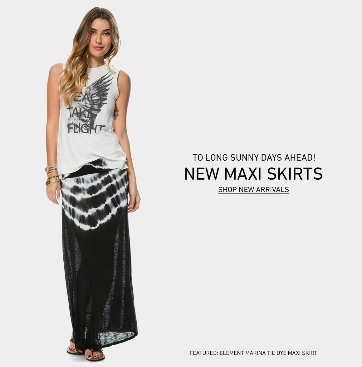 To The Long Days Ahead: Shop New Maxi Skirts
