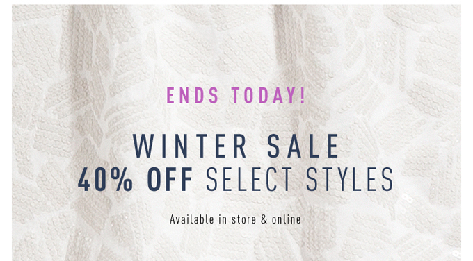 Last chance! Winter Sale ends today!