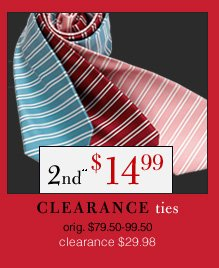 Clearance Ties - 2nd** $14.99 USD
