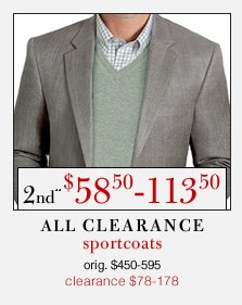 Clearance Sportcoats - 2nd** $58.50-113.50 USD