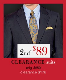 Clearance Suits - 2nd** $89 USD