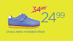 crocs retro molded shoe