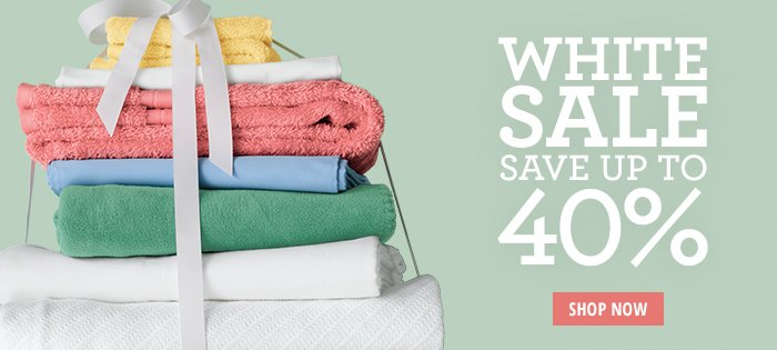 White Sale - Save up to 40%
