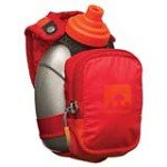 Nathan 4836NOD QuickShot Plus Hydration Handheld Bottle Carrier Pack, Tango Red & Tangerine