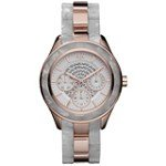 Armani Exchange AX5154 Women's Multifunction Mother of Pearl Dial Rose Gold Stainless Steel & Ceramic Bracelet Watch